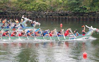 罗州台湾日 赛龙舟展文化
