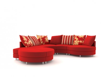 居室不宜选择色彩和图案过于触目的沙发。(Fotolia)