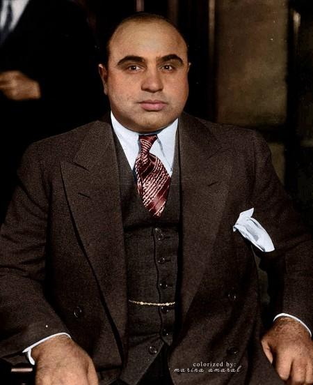 艾尔方斯‧加百列‧卡彭(Alphonse Gabriel Capone,1899-1947,昵称艾尔‧卡彭)美国黑手党成员,曾是芝加哥犯罪集团的首领。(Courtesy of Marina Amaral)