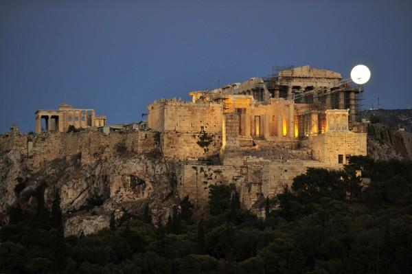 GREECE-MONUMENT-BLUE MOON