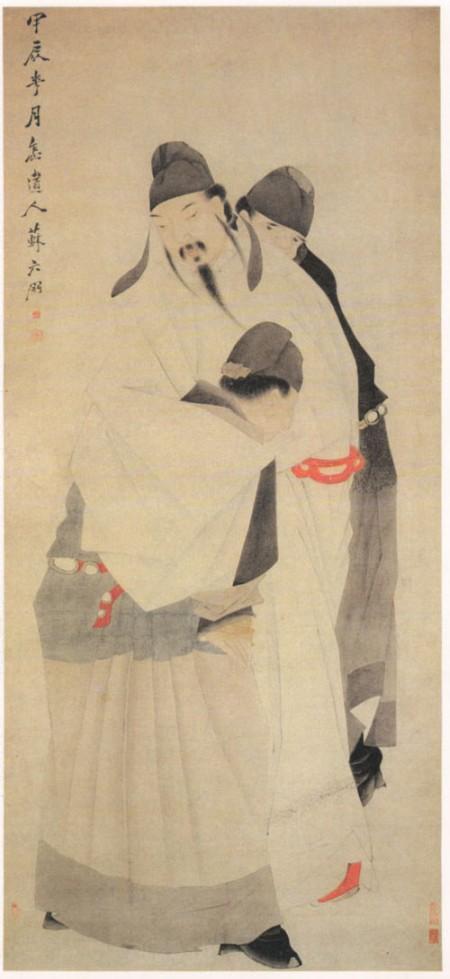 清苏六朋绘《太白醉酒图》,上海博物馆藏。(公有领域)