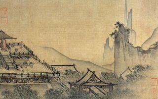 宋 (传马远绘)〈雕台望云图〉。(公有领域)