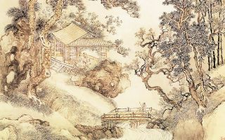 清 王翚〈夏五吟梅图〉。(公有领域)