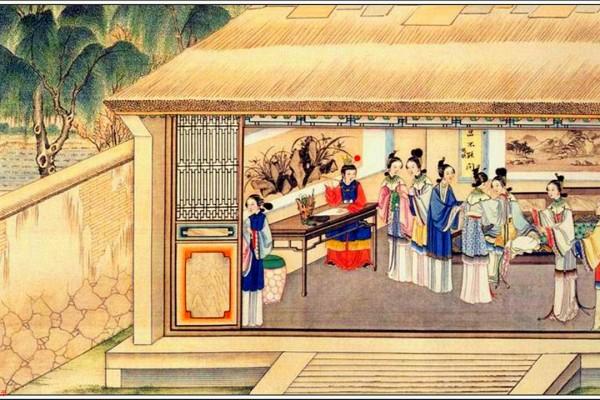 清代孙温绘制《红楼梦》图画(公有领域)