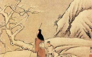 清 萧晨〈踏雪寻梅〉。(公有领域)