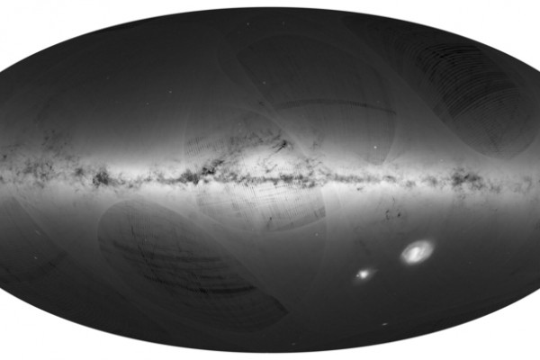 欧洲航天局测定银河系最准确的三维(3D)星图。(ANDRE MOITINHO, MARCIA BARROS/AFP)