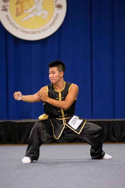 """9月18日,新唐人电视台在纽约举办的第五届""""全世界华人武术大赛""""决赛结果出炉。其中南拳组中来自台湾的谢承宏获得男子组铜奖。(戴兵/大纪元)"""
