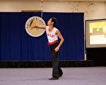 """第五届""""新唐人全世界华人武术大赛""""男子器械组决赛,图为林昌湘以长拳螳螂地功门的九节鞭获得唯一的一枚金牌。(戴兵/大纪元)"""
