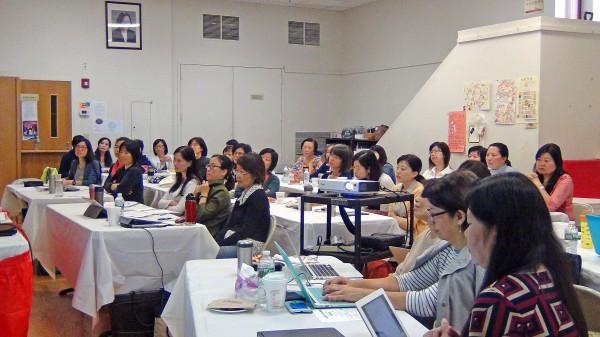 新英格兰中文教师专业协会举办秋季研习会。(王月娥/大纪元)