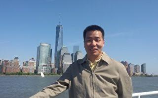 上海街头现谎言展板 法轮功学员市府上访被拘
