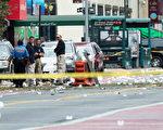 """17日晚间美国纽约市发生爆炸29人受伤,国土安全和恐怖威胁再度成为总统大选的热议话题,如果选前发生恐怖袭击事件,很有可能成为冲击大选的""""十月惊奇""""。(Drew Angerer/Getty Images)"""