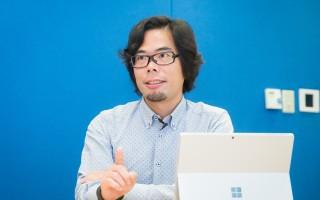 台灣微軟營運暨行銷事業群總經理磯貝直之。(陳柏州/大紀元)