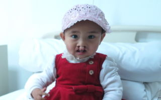 阿米娜因路途遥远及感冒,未能接受手术。(罗慧夫颅颜基金会提供)
