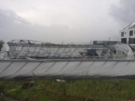農民設施損害嚴重。(謝宜蘭縣政府 提供)