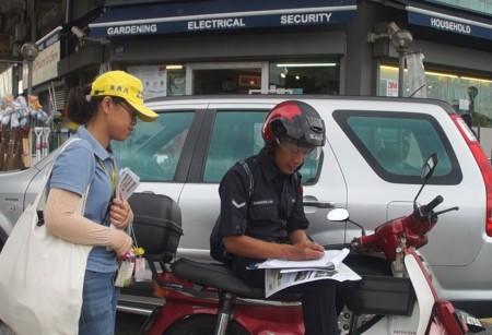 警察在了解真相後,也簽名舉報迫害元凶江澤民。(明慧網)