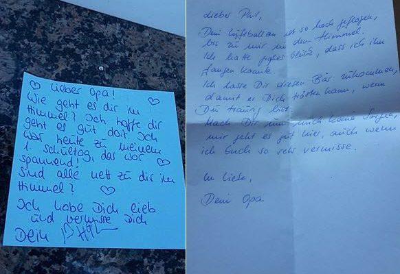 《天堂回信》現實版 德國男孩收到感人回信