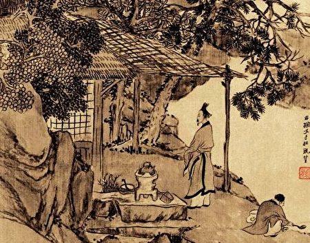 清.任熊〈煮茗圖〉(公有領域)