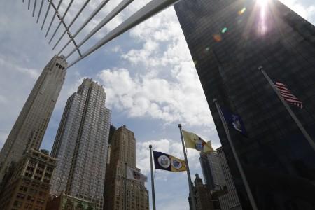 曼哈顿下城天际线。