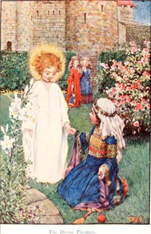 [英]埃莉诺‧福特斯库-布里克岱(Eleanor Fortescue-Brickdale, 1871/2—1945),《匈牙利的圣伊丽莎白的故事》(Story of St. Elizabeth of Hungary)插图。(公有领域)