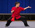 """9月18日,新唐人电视台在纽约举办的第五届""""全世界华人武术大赛""""决赛结果出炉。其中南拳组中来自台湾的卢彦臻得男子组银奖。(戴兵/大纪元)"""