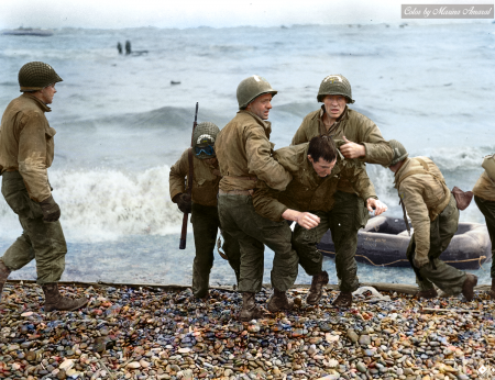 诺曼底登陆的美国部队。(Courtesy of Marina Amaral)