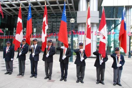 多伦多台侨界9月25日在市中心举行双十庆典游行活动。(伊铃/大纪元)