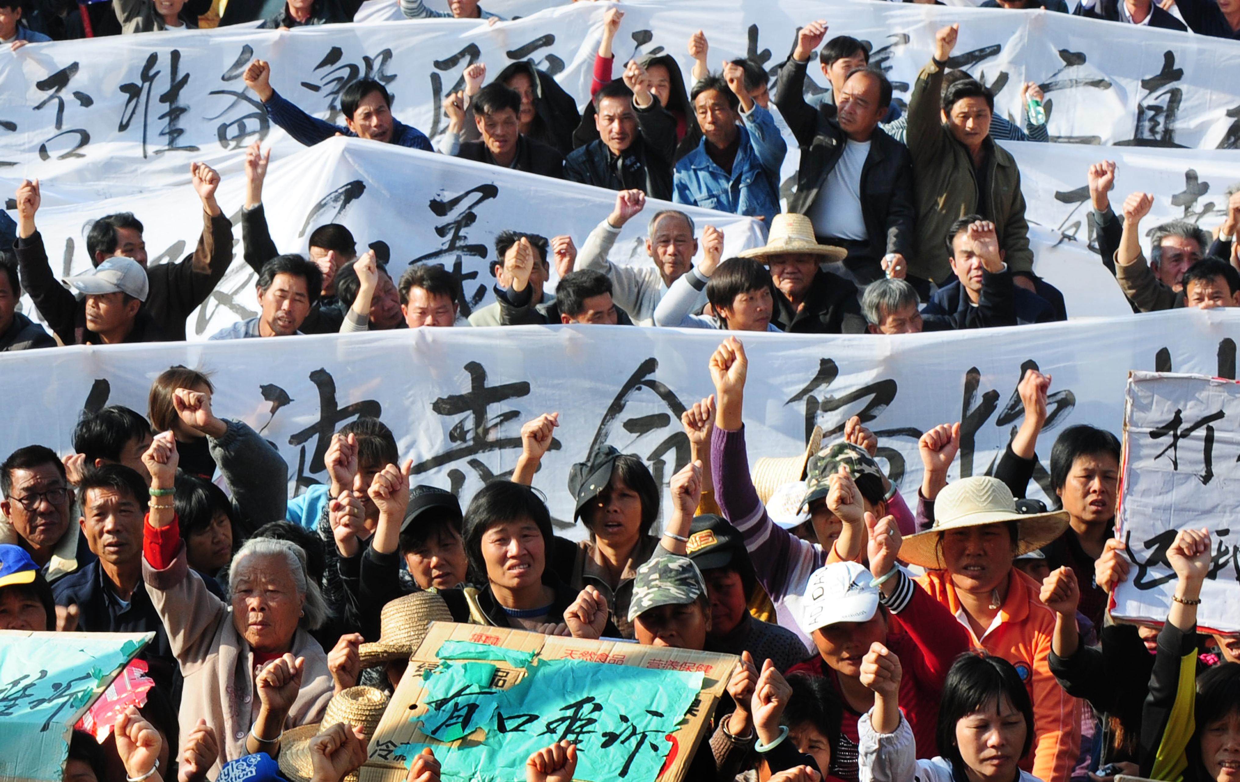 烏坎村民:我們像豆腐一樣被搗碎 - 大紀元