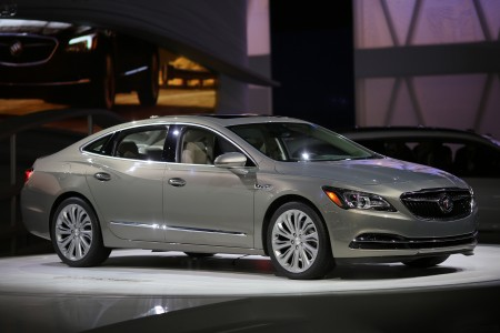 LOS ANGELES, CA - NOVEMBER 18: The new Buick LaCrosse is presented at the 2015 Los Angeles Auto Show on November 18, 2015 in Los Angeles, California. The LA Auto Show was founded in 1907 and is the first major North American autoÊshow of the season each year. (Photo by David McNew/Getty Images)