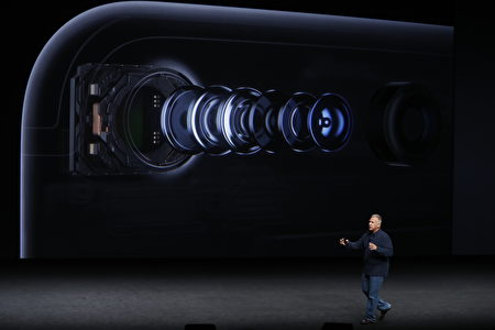 SAN FRANCISCO, CA - SEPTEMBER 07: Apple Senior Vice President of Worldwide Marketing Phil Schiller speaks on the new Apple iPhone 7 during a launch event on September 7, 2016 in San Francisco, California. Apple Inc. is expected to unveil latest iterations of its smart phone, forecasted to be the iPhone 7. The tech giant is also rumored to be planning to announce an update to its Apple Watch wearable device. (Photo by Stephen Lam/Getty Images)