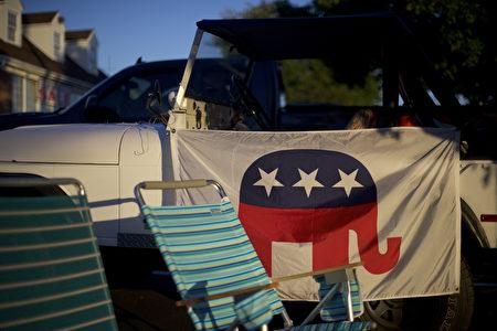9月13日宾西法尼亚州,川普结束在当地的一个竞选集会后的现场一角。(Mark Makela/Getty Images)