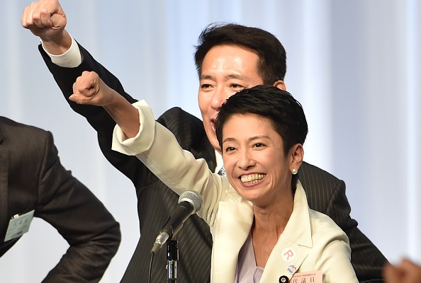 華裔女國會參議員蓮舫於9月15日當選為日本第一大在野黨黨首。(KAZUHIRO NOGI/AFP/Getty Images)