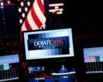9月25日,纽约约霍夫斯特拉大学内,正在准备中的美国大选辩论会会场。次日,川普与希拉里将在此展开雄辩。(Drew Angerer/Getty Images)