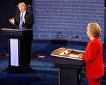 川普在总统选举首场辩论当中,再次对美国的军事结盟战略提出异议。他坚称,日本和韩国应该为美国提供的保护付钱。 (Pool/Getty Images)