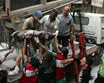 莫斯科和大马士革放弃一周前生效的新的停火协议,发动袭击夺回阿勒颇的叙利亚叛军控制的地区。(AMEER ALHALBI/AFP/Getty Images)