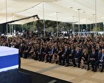 9月30日,奥巴马在佩雷斯的葬礼上称赞他是一位伟人。 (Amos Ben Gershom/GPO via Getty Images)