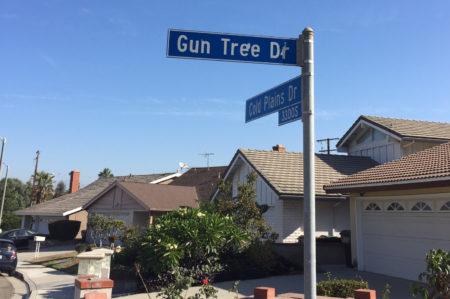 洛杉矶哈岗Gun Tree Drive日前发生盗匪入侵华裔住宅案件。(袁玫/大纪元)