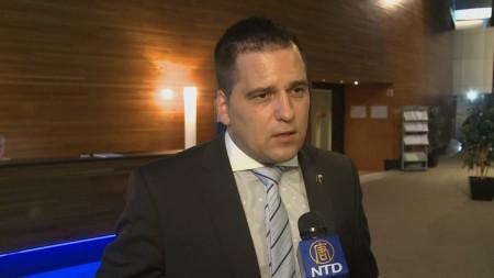 捷克的欧洲议会议员托马斯·德克斯基。(新唐人)