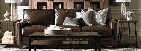 订制纯皮革沙发。(湾区家具行Bassett提供)