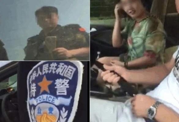 河北馆陶县巡特警大队警察偷拍车震。(网络图片)