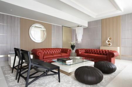 高卢埃克塞尔西奥酒店(Excelsior Hotel Gallia)高卢套房的起居室。(高卢埃克塞尔西奥酒店提供)