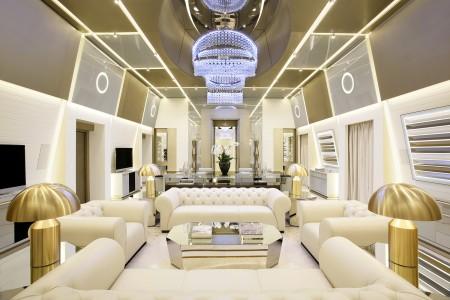 高卢埃克塞尔西奥酒店(Excelsior Hotel Gallia)总统套房的起居室。(高卢埃克塞尔西奥酒店提供)