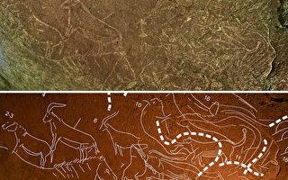 西班牙小镇发现史前石洞壁画 距今1.45万年