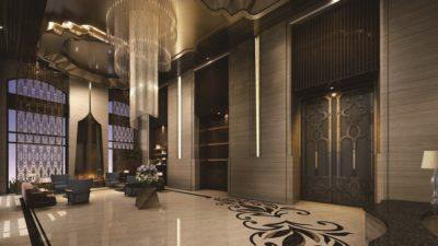 「磐龍」壹號樓大廳公設3D示意圖。(金兆威廣告提供)