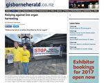 《吉斯本先驱报》报导新西兰汽车之旅。(网络截图)