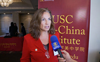 前國防部國際安全事務助理部長Mary Beth Long接受大紀元記者採訪。(楊陽/大紀元)