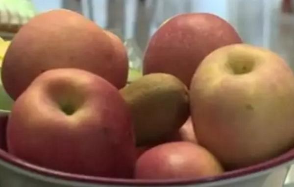 为了让猕猴桃早点成熟,高先生将猕猴桃和其他水果放在一起很多天。(网络图片)