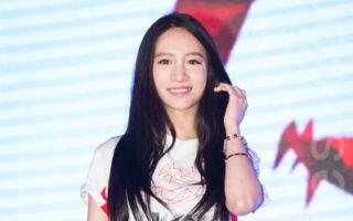 艺人林采缇6月7日在台北出席电竞公司记者会。(陈柏州/大纪元)