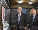 吴敦义9月30日下午访问斯坦福大学。(曹景哲/大纪元)