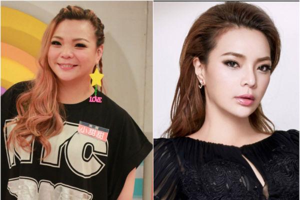 台湾艺人小甜甜,左为资料照,右图为近照。(超视,小甜甜脸书/大纪元合成)