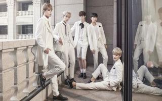 """新人男团""""INX""""在韩国成军满3个月之际2度访台,并在出道100天举办小型售票演唱会。(源创国际整合提供)"""